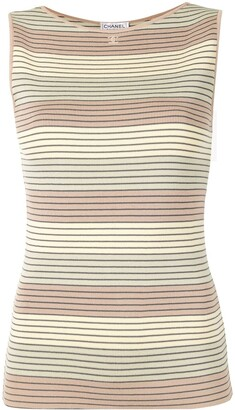 Chanel Pre Owned 1998 Striped Knit Top
