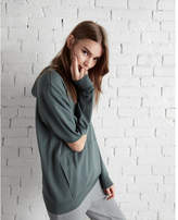 Express one eleven elbow cut-out oversized hooded sweatshirt
