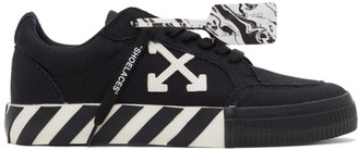 Off-White Black Canvas Vulcanized Sneakers