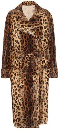 BLAZÉ MILANO Wait leopard-print velvet coat