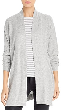 Cupio Brushed Button Detail Ribbed Cardigan