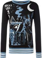 Dolce & Gabbana cocktail intarsia knit jumper