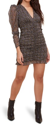 ASTR the Label Ruched Long Sleeve Minidress