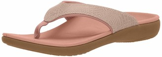 Spenco Women's Yumi 2 Croco Sandal Flip-Flop Patriot Blue 6 Medium US