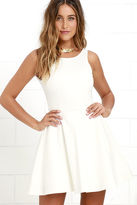 LuLu*s Wanderlust Heather Grey Skater Dress