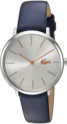 Lacoste Women's Moon Quartz Stainless Steel Leather Strap Watch