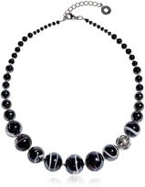 Antica Murrina Veneziana Optical 2 - Black Murano Glass Choker