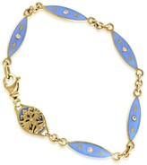 Faberge 18K Yellow Gold Enameled Diamond Bracelet