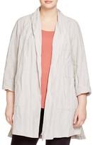 Eileen Fisher Plus Crinkled Kimono Coat