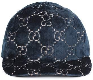 Gucci GG velvet baseball cap