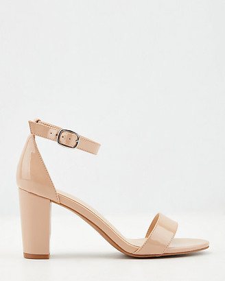 Le Château Patent Faux Leather Ankle Strap Sandal
