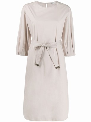 Peserico Belted Mid-Length Dress