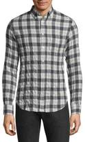 Officine Generale Plaid Casual Button-Down Shirt