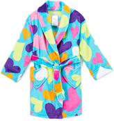Komar Kids Blue & Pink Heart Fleece Robe - Girls