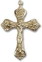 Blissliving Home Rosebud 14K Rosary Crucifix
