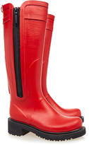 Ilse Jacobsen Tall Red Side Zip Rubber Wellington Boot