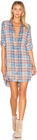 Bella Dahl Frayed Hem Shirt Dress