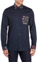 Love Moschino Floral Block Sport Shirt