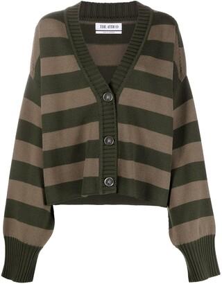 ATTICO Striped Merino-Knit Cardigan