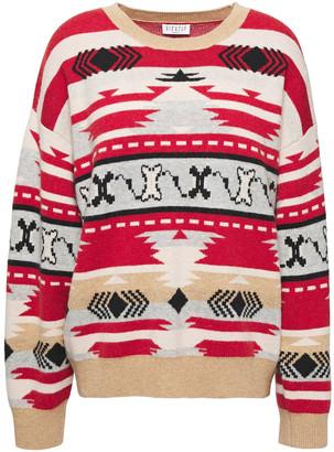 Claudie Pierlot Jacquard-knit Wool-blend Sweater