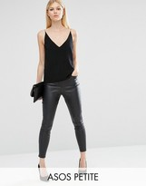 Asos Leather Look Stretch Skinny Pants