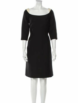 Valentino Scoop Neck Knee-Length Dress Black