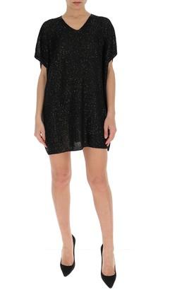 Saint Laurent Sequins V-Neck Dress