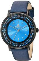Burgmeister St. Lucia Women's Quartz Watch with Blue Dial Analogue Display and Blue Leather Strap BM537-633