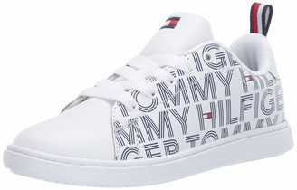 Tommy Hilfiger Unisex-Kid's TH Iconic Court Logo Sneaker