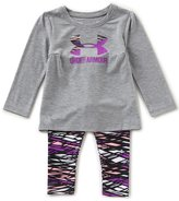Under Armour Baby Girls 12-24 Months Icon Tee & Printed Leggings Set