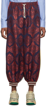 Gucci Multicolor Bi-Material Harem Loung Pants