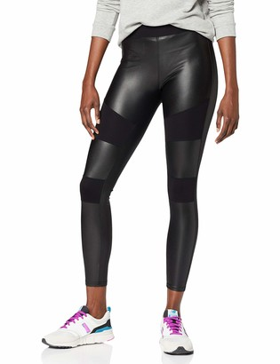 Urban Classics Women's Leggings Ladies Fake Leather Tech Yoga-Hose