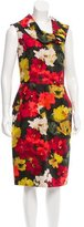 Oscar de la Renta Silk Floral Dress w/ Tags