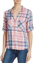 Bella Dahl Frayed Hem Plaid Shirt