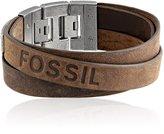 Fossil Men's Double Strap Leather Bracelet