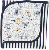 First Impressions Cotton Bear-Print Blanket, Baby Boys, Created for Macy's