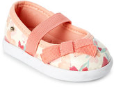 Pampili Infant/Toddler Girls) Salmon Floral Mary Jane Shoes
