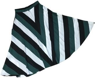 Ganni Green Silk Skirt for Women