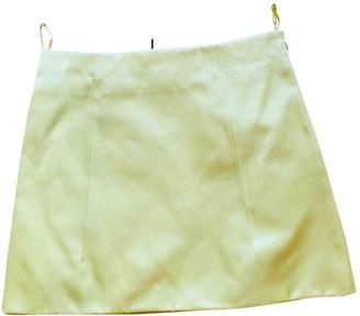 Prada Yellow Silk Skirt for Women