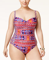 LaBlanca La Blanca Plus Size Global Perspective Printed One-Piece Swimsuit