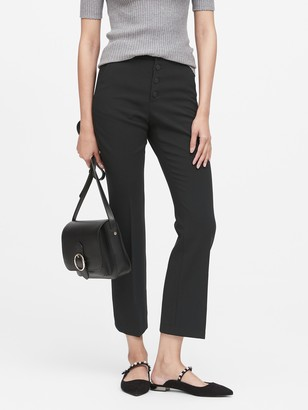 Banana Republic High-Rise Crop Flare Button Fly Pant