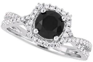 Macy's Diamond Halo Engagement Ring (1-1/2 ct. t.w.)