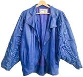 Jitrois Blue Leather Jacket for Women Vintage