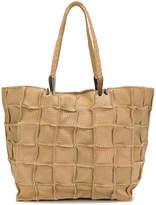Jamin Puech grid detail shoulder bag