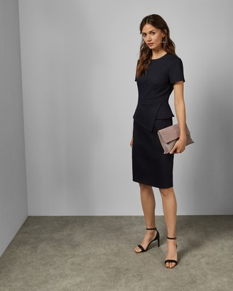 Ted Baker Asymmetric Peplum Tailored Dress