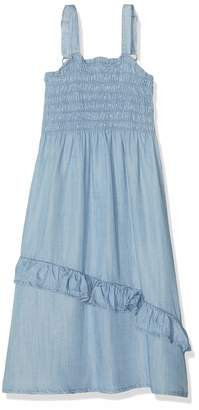 Name It Girl's Nkfbakaren DNM 1210 Dress Light Blue Denim 164