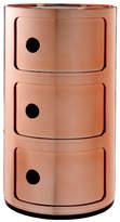Kartell Componibili Metallic 3 Tier Unit - Copper