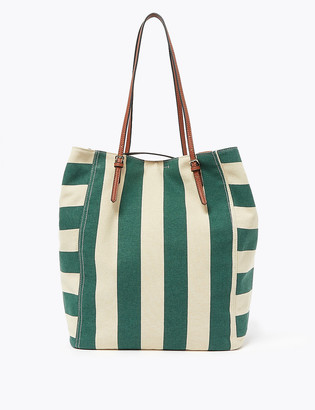 Marks and Spencer Canvas Striped Tote Bag