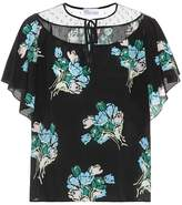 RED Valentino Printed silk top