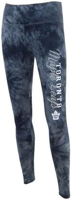 Unbranded Women's Concepts Sport Black Toronto Maple Leafs Burst Tie Dye Knit Leggings